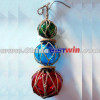 Solar Colourful Ball Light With Rattan rope
