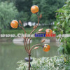 Metal Solar Stake Light With 4 Copper Color Balls