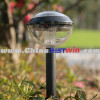 Plastic Solar Garden Light Round Bulb Glass
