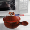 Microwave hot pot in kitchen