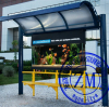 Metal Bus Stop Shelter Solar Bus Shelters Bus Station
