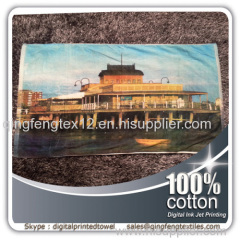2015 hot sales beach towel with logo