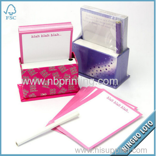 OEM Available Paper Memo Cube with Pen Holder
