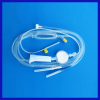 Disposable precision filter infusion device for hospital use
