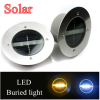 Top quality Solar Stainless Steel 3 LED underground light Ground Landscape Garden Light, buried lamp, buried light