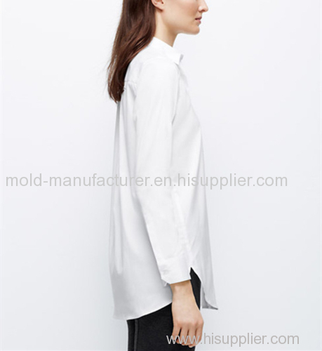 Factory directly cotton nylon mix long front patch pockets formal shirt China dress manufacturers