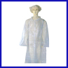 Plastic disposable isolation gown