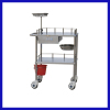 Stainless steel dressing car hospital furniture