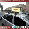 P6 P5 3G full color led taxi display, taxi led display top advertising