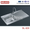 Middle&Low BA finish Single bowl Single drainer One piece rectangle/Square Sink 304# 201# BL929