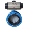 soft seat pneumatic flanged butterfly valve