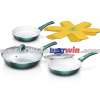 Aluminum ceramic induction fry pan