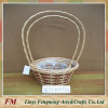 willow square storage basket with ear and lining