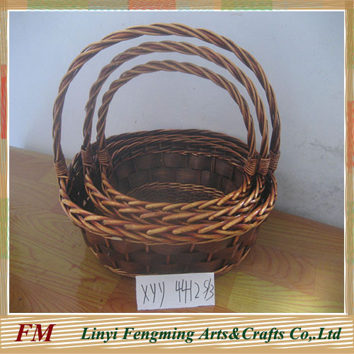 handmade wicker hanging flower basket