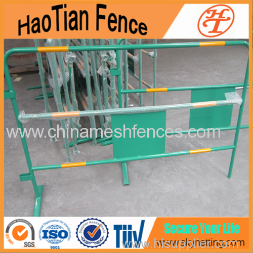 Powder Coating Crowd Control Barrier Traffic Barrier With Reflective Tape