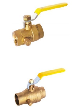 Brass Ball Valve-With Drain