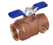Bronze Ball Valve With Waste Drain-Threaded