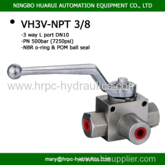 3-way hydraulic NPT 3/8 valves with two mounting holes