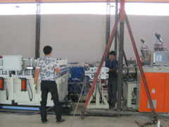 wood plastic extrusion line