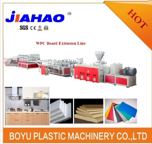 WPC foam sheet extruder machine