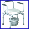 Adjustable adult potty chair