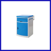 plastic bedside table blue color for hospital use