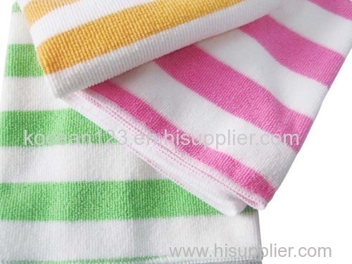 Microfiber Cleaning Cloth Stripe Kitchen Cleaning Cloth Wholesale Floor Cleaning Cloth