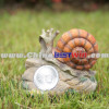 Garden Decor Post Solar Powered Light Resin Snail