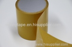 Clear polyester double sided tape