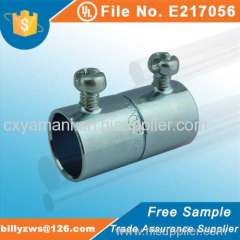 Factory price top quality zinc plated steel EMT coupling