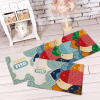 Front door mat bathroom Living Room Rug hallway warm strong water absorption Tropical Fish bones carpet YD201504