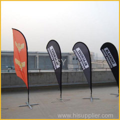 Promotional advertising flag banner stand