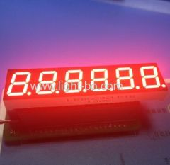 "Custom super red 6 digit 0.56"" 7 segment led display common cathode for digital weighing scale indicator"