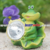 Solar Craft Resin Light Frog Lotus