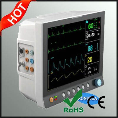 Multi Function SPO2/TEMP/NIBP/ECG/PR/RESP Patient Monitor