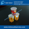 thin wall containers mould tools/ iml cup container mould service / iml plastic molding maker