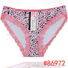 2015 New lace trim cotton bikini panties sexy leopard lady brief Underpants women underwear girl hipster hot lingerie