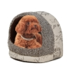 Pet House Linen Fabric Pet Beds with Vintage Style
