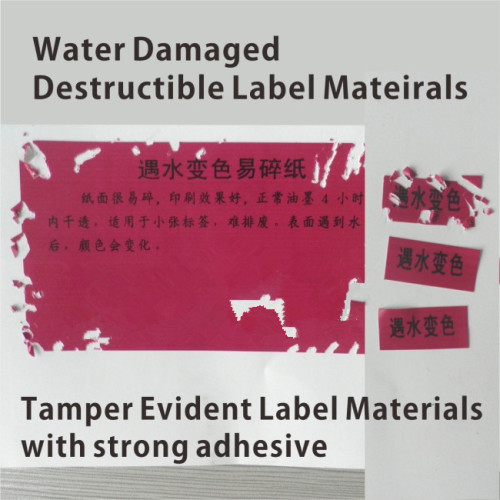 Special Anti Counterfeit Material Water Sensitive Paper
