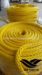high quality 12 strand UHMWPE rope/haswer/mooring rope 6-96mm