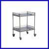 Stainless steel treatment trolley