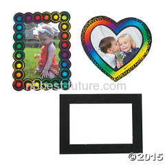 Magic Color scratch picture frame