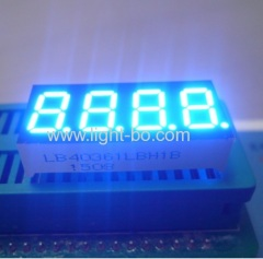 "4 digit 0.36"" ultra bright blue 7 segment led display common cathode"
