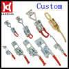 Self adjusting push pull toggle clamp / latch type toggle clamp