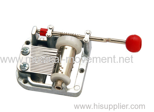 MINIATURE 18 NOTE HAND CRANK MUSICAL MOVEMENT