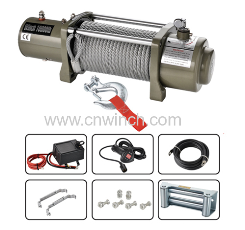 ELETRIC WINCH 10000LBS W/ SYNTHETIC ROPE
