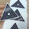Classic Black Color Print Egg Shells Sticker Permanent Sticky Non Removable Eggshell Stickers for Graffiti Artists