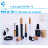 Mascara eyeliner eyeshadow lip stick lip gloss compact foundation bottle with bamboo cap