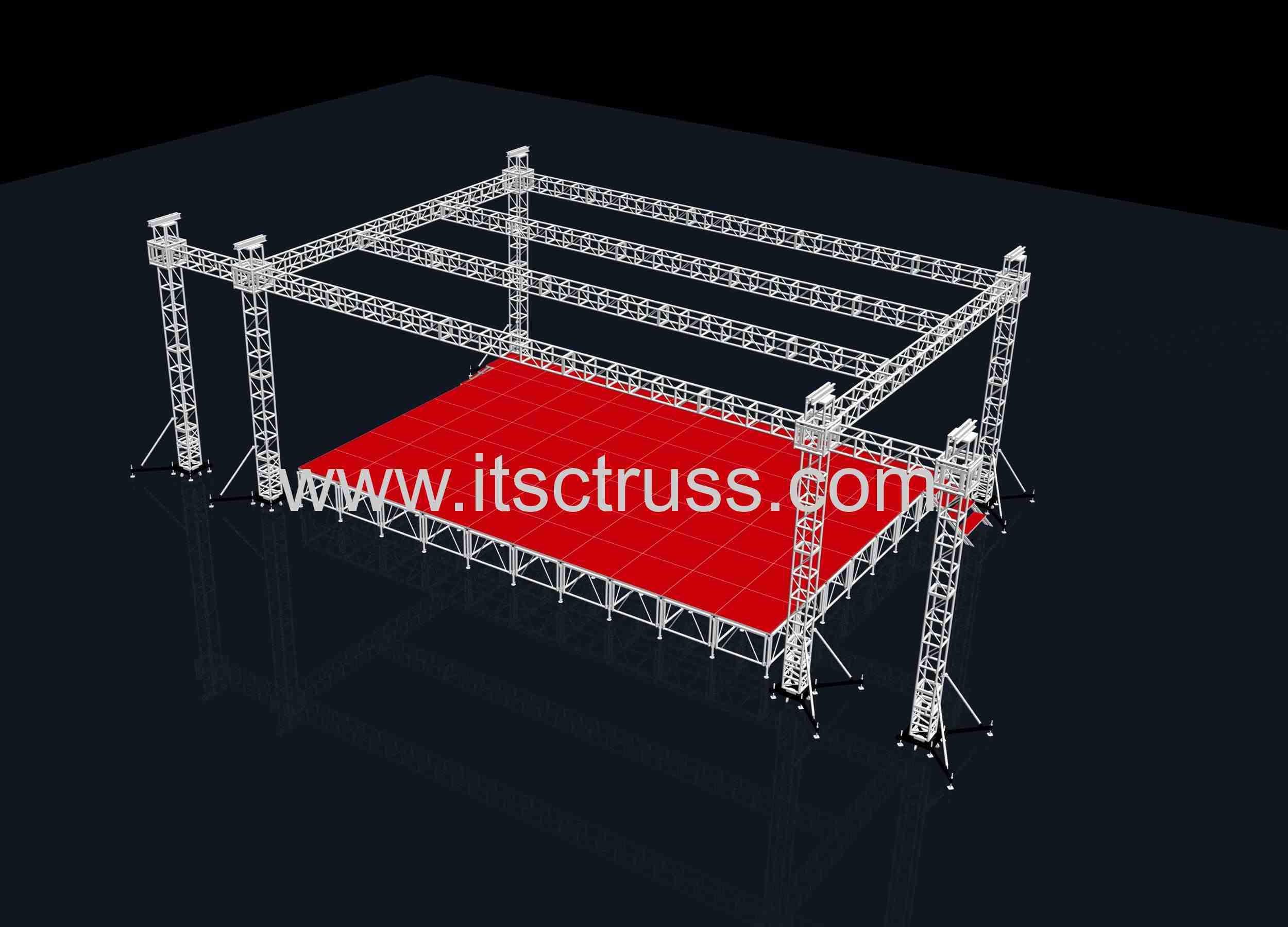 60X40X30ft box trusses and 300pcs stages in stock now