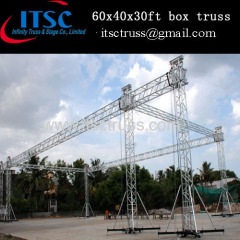India outdoor 60x40x30ft box truss system